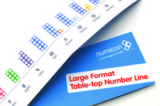 Large format table top number line