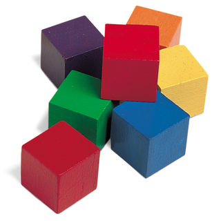 Wooden Colour Cubes