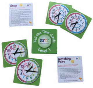 Easy Read Tell the Time Cards - Level 1