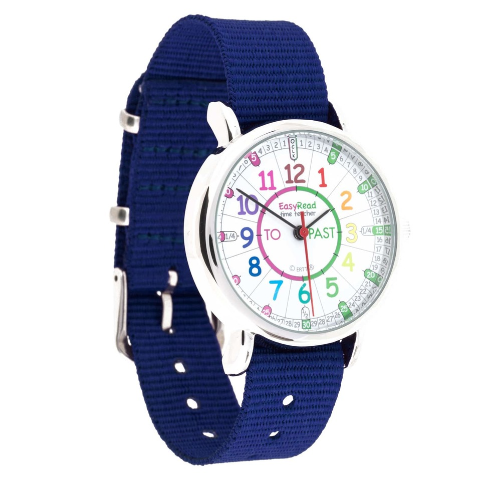 Watch - Past/To Rainbow Face - Navy Blue Strap