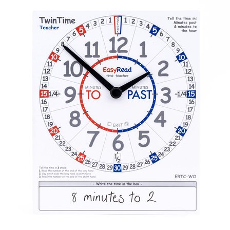 Easy Read Time Teacher Student Clock - single