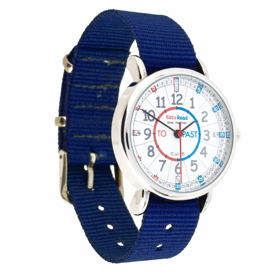 Watch - Past/To Face - Navy Blue Strap