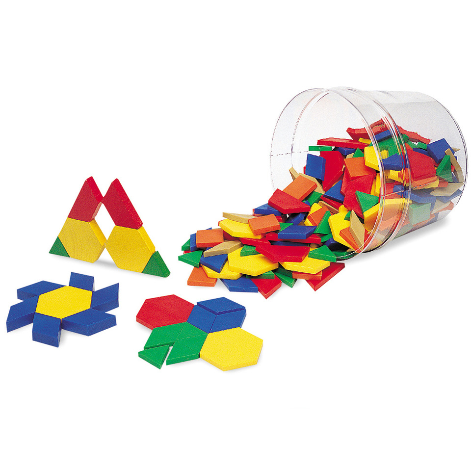 Pattern Blocks: Plastic (0.5 cm)