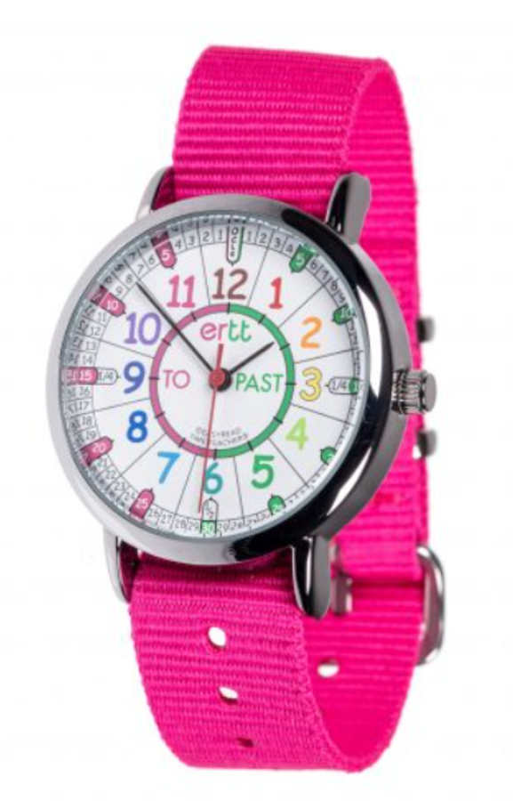 Watch - Past/To Rainbow Face - Pink Strap